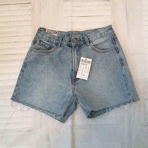 Brandy Melville slim high waisted denim shorts M